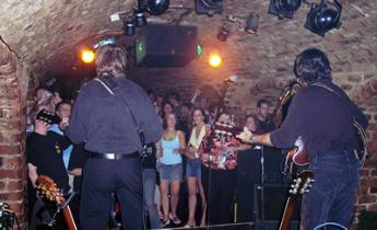 Rod and George at the world famous Cavern Club!