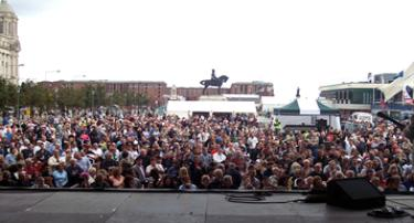 our view from the Pierhead stage...